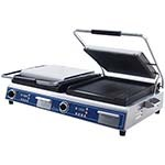 Globe GPGDUE14D - Double Panini/Sandwich Grill w/Grooved Plates, 14 x 14 in.