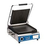 Globe GPGS14D - Sandwich Grill, single, electric, grooved top and smooth bottom plate