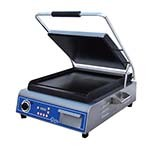 Globe GSG14D - Countertop Sandwich/Panini Grill w/Smooth Plates, 14 x 14 in.