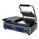 Globe GSGDUE10 - Double Countertop Panini Grill w/Smooth Plates, 10 x 10 in.