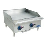 Globe C24GG - Chefmate 24 in. Griddle, Gas