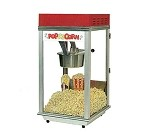 Gold Medal 2152 - Popcorn Machine, 8 oz. kettle, aluminum cabinet, red dome, tempered glass