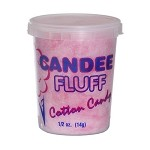 Gold Medal 3020N - Candee Fluff Containers, with lids, 1/2 oz., lid