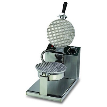 "Gold Medal 5020 - Giant Waffle Cone Baker, 8"" danish grid, push button controls"