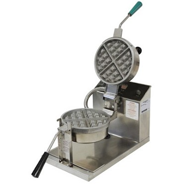 "Gold Medal 5042E - Belgian Waffle Baker, 7-1/4"" round, removable grid"