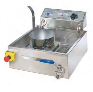 Gold Medal 8049D - FW-9 Shallow Fryer, electric, 4-6 funnel cake capacity, drain