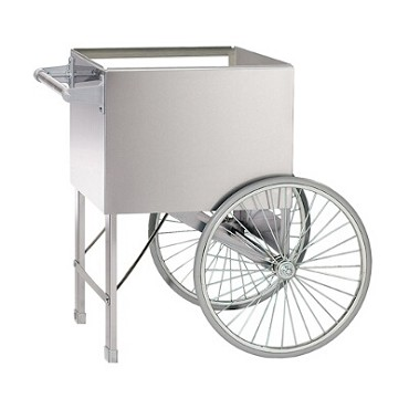 "Gold Medal 2148ST - Steerable Wagon, 20"" Two Wheel Cart, Stainless Steel"