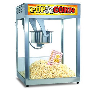 Gold Medal 2552 - Popcorn Machine, 12/14 oz. Uni-Maxx stainless steel kettle, stainless steel