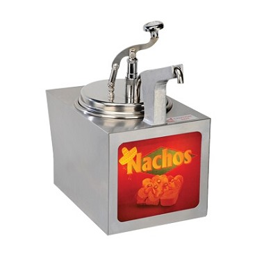Gold Medal 2197NS - Nacho Cheese Warmer, heated, pump style, for #2238 insert (not included)