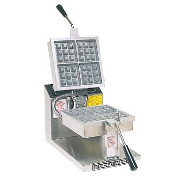 "Gold Medal 5024 - Belgian Waffle Baker, makes (4) 4"" x 4"" waffles, 3-minute cook cycle"