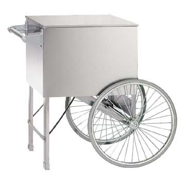 "Gold Medal 2015ST - Popcorn Cart, stainless steel, 28"" x 20"", 2 wheels"