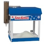 Gold Medal 1333 - Sno Master Ice Shaver, fixed ice hopper, hinged doors, lighted cabinet