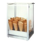 Gold Medal 8211 - Display Case, giant waffle cone, made from stainless steel, alum