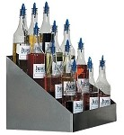 Gold Medal 2725 - Shave Ice Bottle Rack, tiered, holds 20 #1059 shave ice flavor b