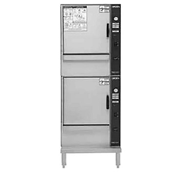 Groen (2)SSB-5GF - SmartSteam 100 Convection Steamer, gas, double-stacked, open leg