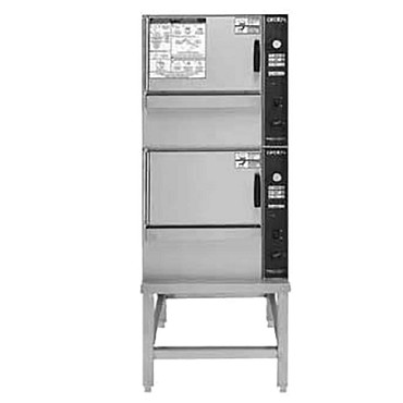 Groen (2)SSB-3EF - SmartSteam 100 Convection Steamer, electric, double-stacked, ope