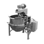 Groen DL-80,TA/3 - Kettle/Cooker Mixer, direct steam, 80-gallon capacity, 2/3 jacket w/tilt out twin shaft scraper mixer