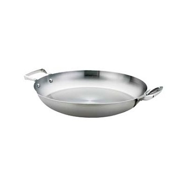 "Browne 5724174 - Thermalloy Paella Pan, 16"" dia. x 2""H, stainless steel"