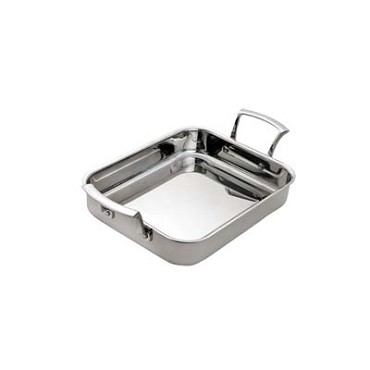 "Browne 5724176 - Roast Pan, 4.6 qt., 14"" x 11-2/5"" x 2"", rectangular, rolled edge"