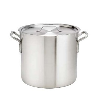 "Browne 5813120 - Stock Pot, 20 qt., 11-3/4"" x 11"", without cover, 6 gauge, aluminum"