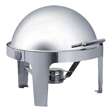 "Browne 575138 - Rondo Chafer, 7 qt., 22-1/2"" x 20"", round, roll top, roll top, stainless steel"