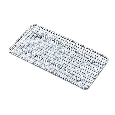 "Browne PG510 - Pan Grate, 10""L x 5""W x 7/8""D, footed, fits 1/3 size pan, nickel-plated"