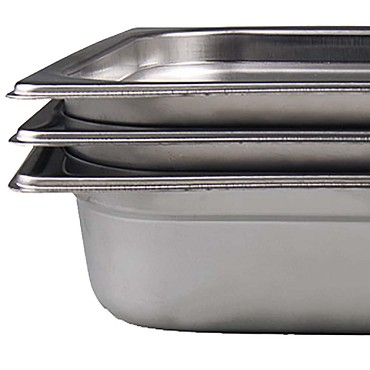"Browne 22002 - Steam Table Pan, full size, 8.2 qt., 2-1/2"" deep, 22 gauge stainless"