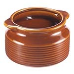 Browne 744049BR - Onion Soup Bowl, 12 oz., stoneware, brown