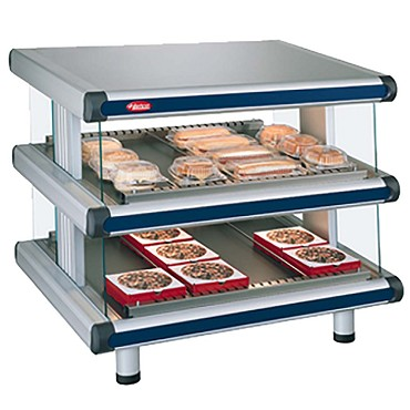 "Hatco GR2SDS-30D - Heated Merchandiser, 30""W, (2) slanted shelves with (12) rods"
