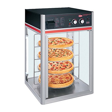 Hatco FSDT-2 - Heated Display Case, (2) door, (4) tier circle rack with motor