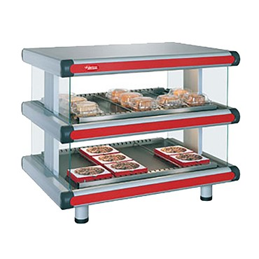 "Hatco GR2SDH-42D - Heated Merchandiser, 42""W, (2) shelves with (16) rods"