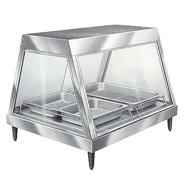"Hatco GRHD-2P - Heated Display Case, (2) pan shelf, with 4"" legs"
