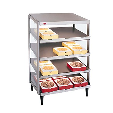 "Hatco GRPWS-2424Q - Pizza Merchandiser, Pass-Thru, quad slant shelf, 24"" x 24"" deep"