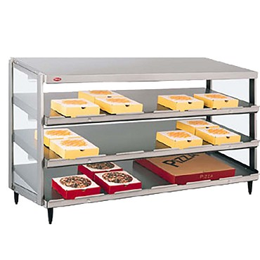 "Hatco GRPWS-2418T - Pizza Merchandiser, Pass-Thru, triple slant shelf, 24"" x 18"" deep"