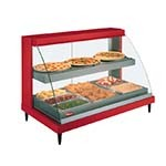 Hatco GRCDH-2PD - Heated Display Case, humidity, curved glass, (2) pan dual shelves, lighted