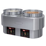 Hatco RHW-2-208-QS - Round Food Warmer/Cooker, countertop, (2) 11 qt. pan, dry operation