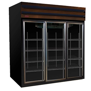 Howard-McCray GSR102-B - Refrigerator Merchandiser, 4 Section, Sliding Doors