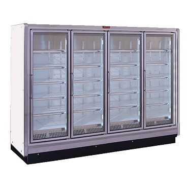 Howard-McCray RIN4-24-LED - Refrigerator Merchandiser, 4 section, hinged glass doors