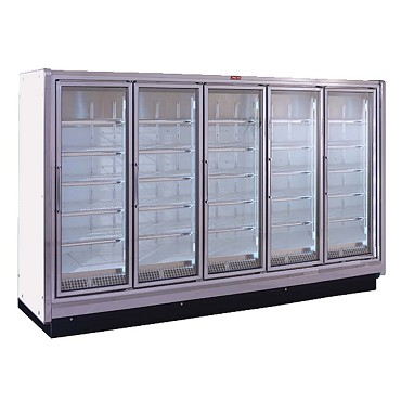 Howard-McCray RIF5-24-LED - Freezer Merchandiser, 5 section, hinged glass doors