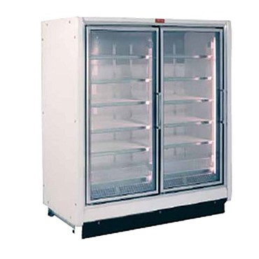 Howard-McCray RIF2-30-LED - Freezer Merchandiser, 2 section, hinged glass doors