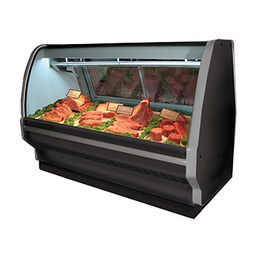 Howard-McCray R-CMS40E-6C-BE-LED - Meat Display Case, Single Duty, Curved Glass