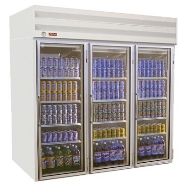 Howard-McCray GF75-FF - Freezer Merchandiser, 3 Section, Hinged Doors