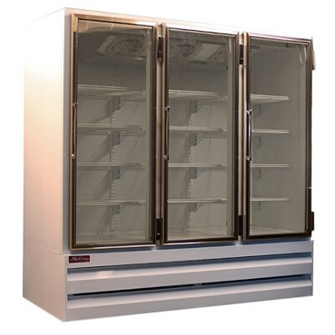 Howard-McCray GR65BM - Refrigerator Merchandiser, 3 Section, Hinged Doors