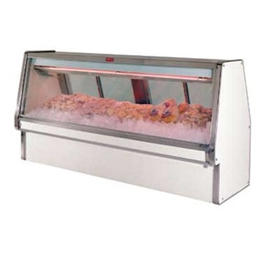 "Howard-McCray R-CFS34E-10-LED - Fish/Poultry Case, Double Duty, 124.5"" W"