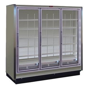 Howard-McCray RIN3-24-LED - Refrigerator Merchandiser, 3 section, hinged glass doors