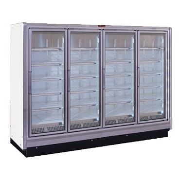 Howard-McCray RIN4-30-LED-S - Refrigerator Merchandiser, 4 section, hinged glass doors