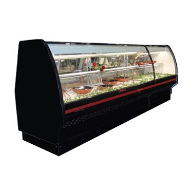 Howard-McCray SC-CDS40E-6C-BE-LED - Deli Case, Single Duty, Curved Glass