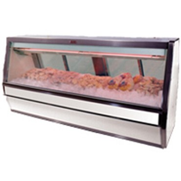 "Howard-McCray SC-CFS40E-10-LED - Fish/Poultry Case, Single Duty, 124.5"" W"