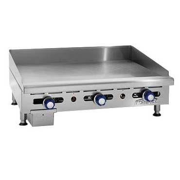"Imperial IMGA-6028-1 - Elite Griddle, Counter Model, Gas, 60"" wide x 24"" deep grill are"