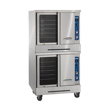 Imperial ICVDE-2 - Convection Oven, electric, (2) deck, bakery depth, dual open 60/40 doors